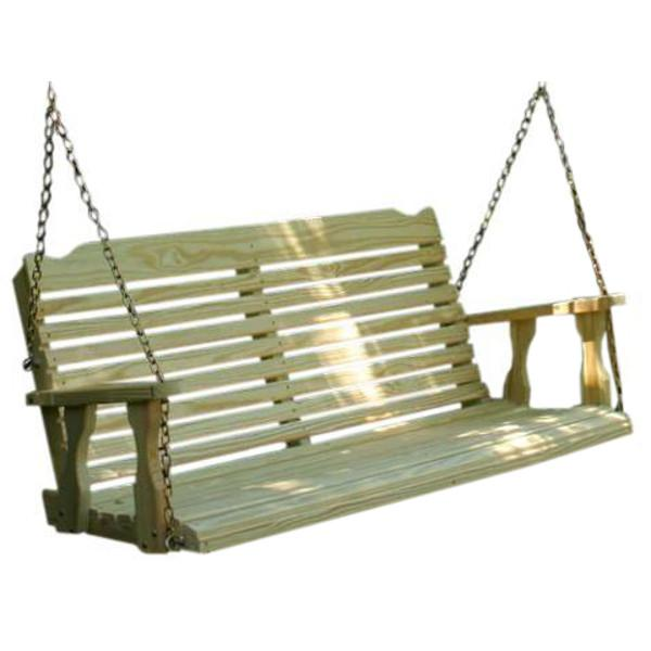 Treated Pine Crossback Porch Swing Porch Swing