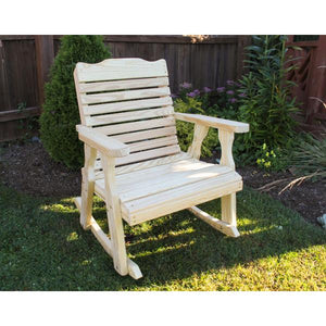 Treated Pine Crossback Rocking Chair