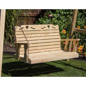 Treated Pine Crossback with Heart Porch Swing