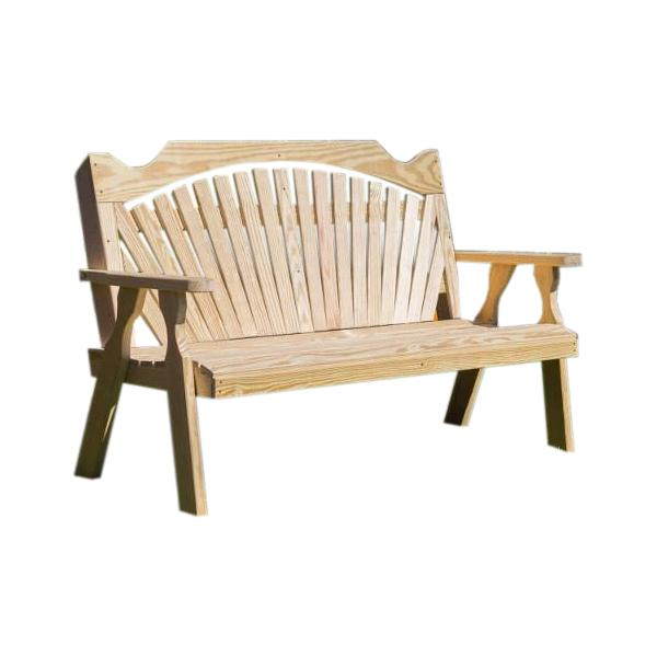 Treated Pine Fanback Garden Bench