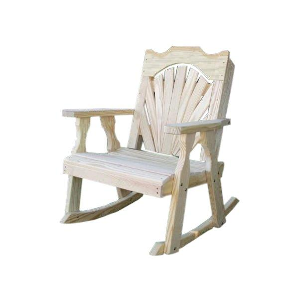 Treated Pine Fanback Rocking Chair