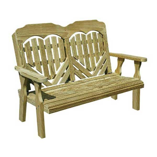 Treated Pine Heartback Garden Bench