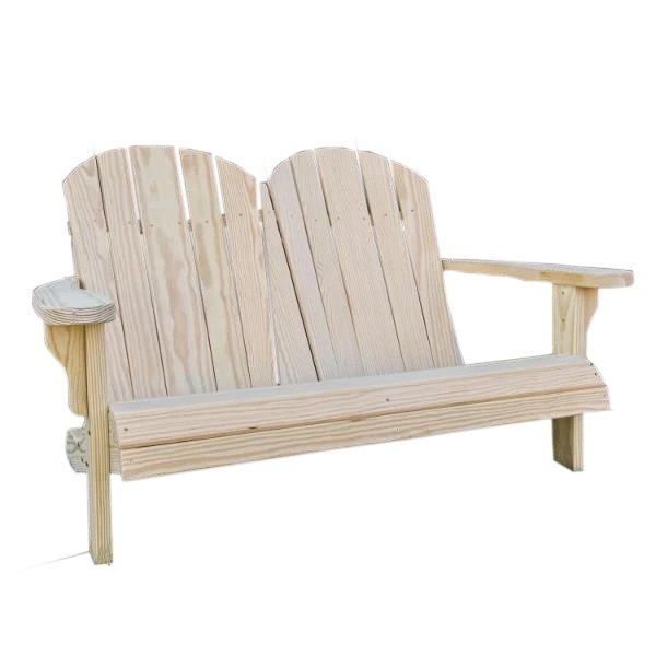 Treated Pine Low Curveback Garden Bench