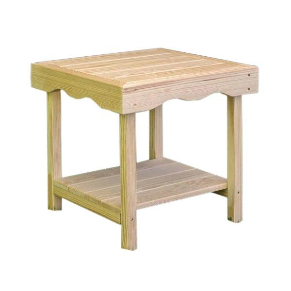 Treated Pine Rectangular End Table