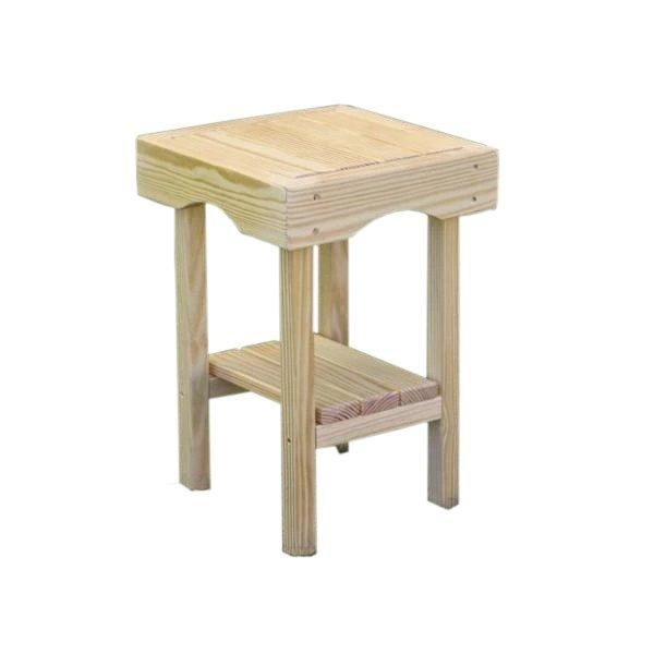 Treated Pine Square End Table