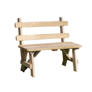 Treated Pine Traditional Garden Bench with Back