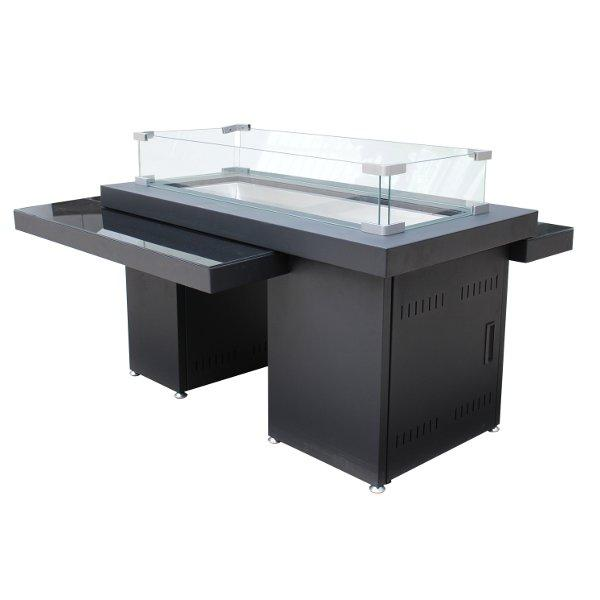 Two Tiered Glass Top Fire Pit Fire Pits