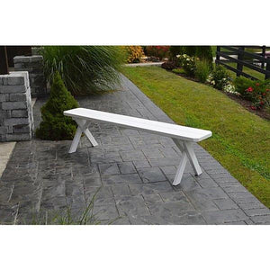 Yellow Pine Picnic Crossleg Bench Size 5ft, 6ft, 8ft
