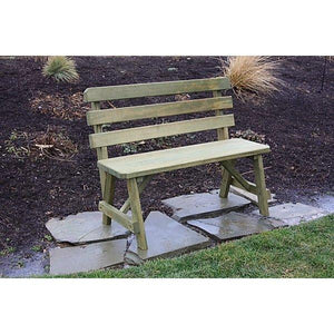 Yellow Pine Traditional Backed Bench