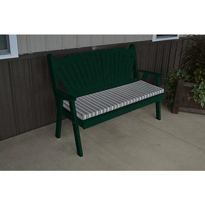 Yellow Pine Traditional English Garden Bench