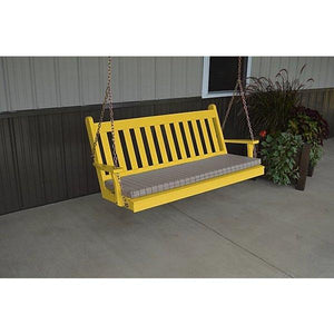 Yellow Pine Traditional English Style Porch Swing