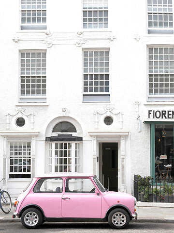 London Portobello Road Pink Car