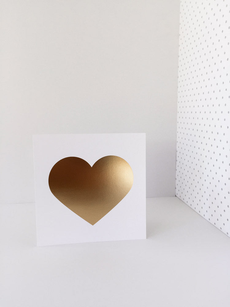 """Heart of Gold"" Gold Foil Heart Print"