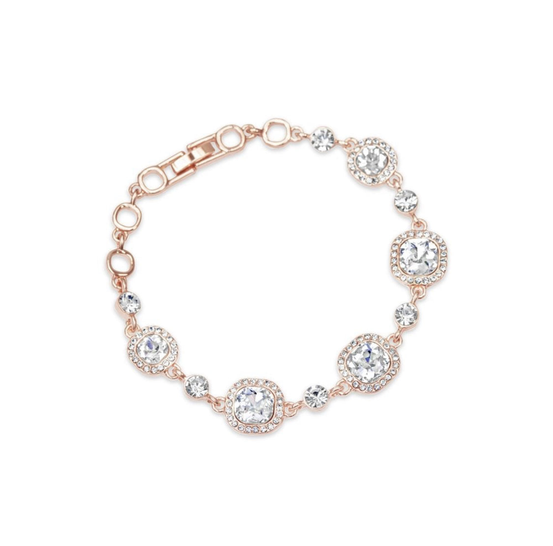 Camilia - Stunning Swarovski and Rose Gold Bracelet