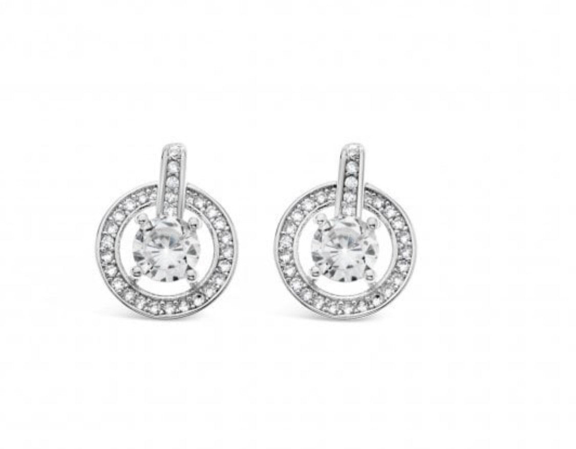 Roni - Sparkling Solitaire Earrings