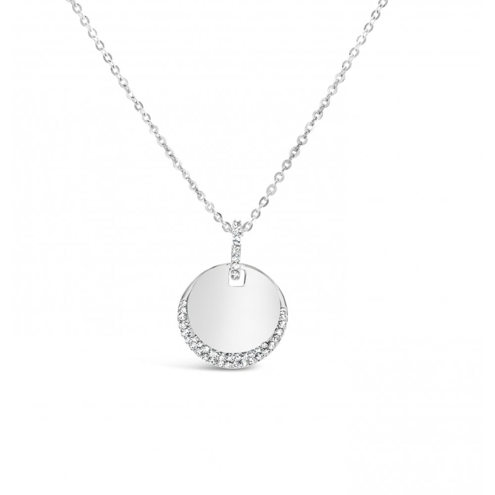 Sonal - Dainty Sparkling Disc Pendant Necklace