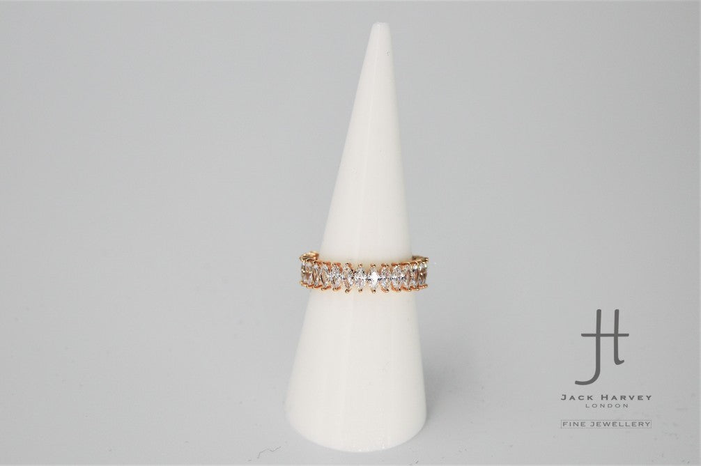 Maryam - Rose Gold Sparkling Eternity Ring
