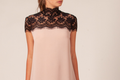 Lace collar a line dress.