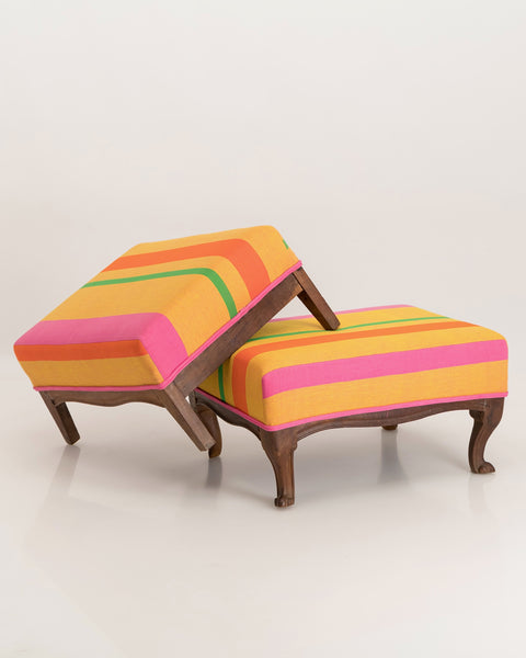Footstool with splayed legs