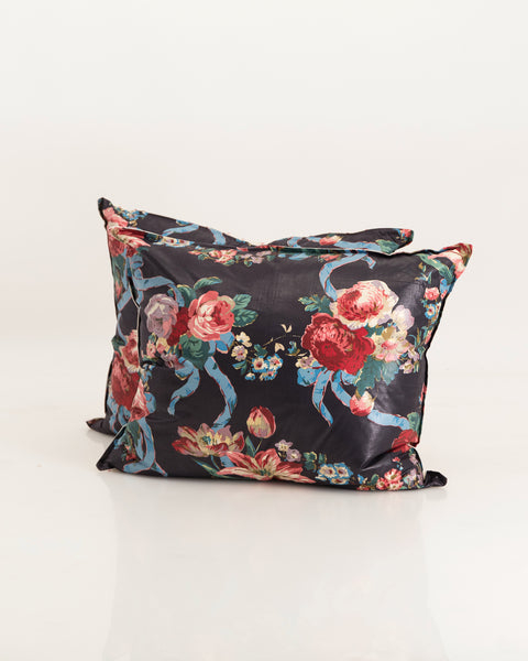 Black chintz cushions