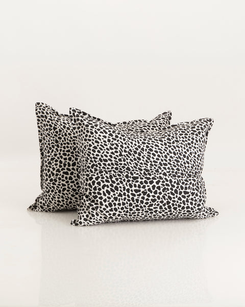 Black leopard cushions