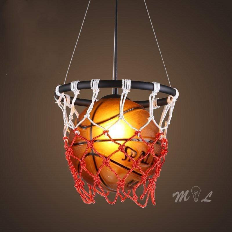 Basketball Hanging Lamp Home Decor