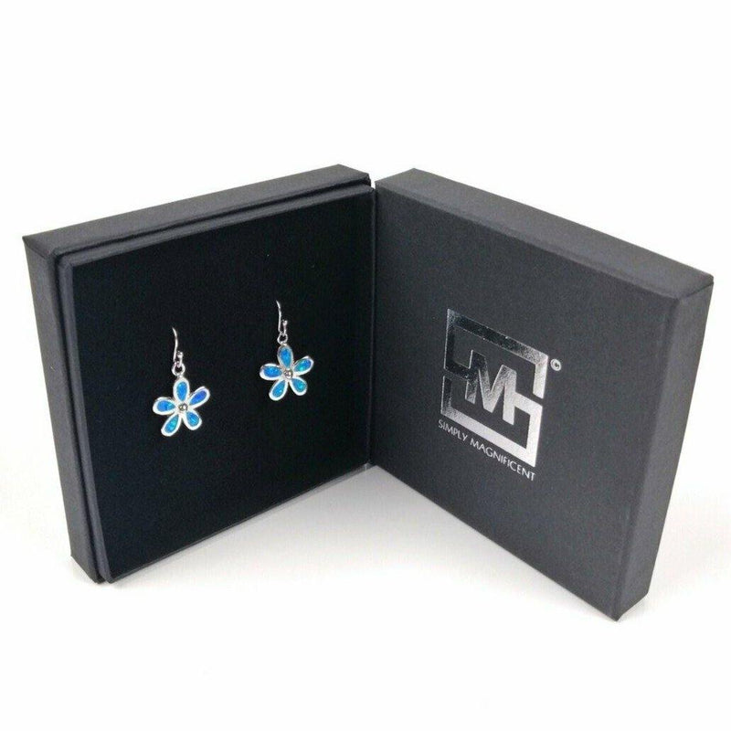 Blue Opal Flower Earrings - Simply Magnificent LTD