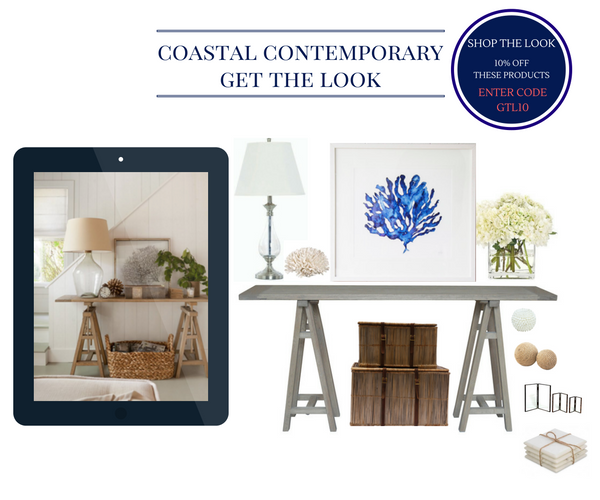 Hamptons Coastal Contemporary Entrance Halls & Passage ways by Style My Home Australia
