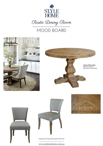 Rustic Round Dining Table Mood Board by Style My Home Australia