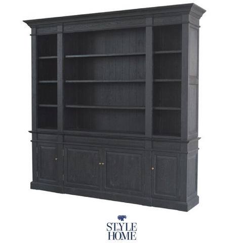 'Hamptons' Full Wall Bookcase