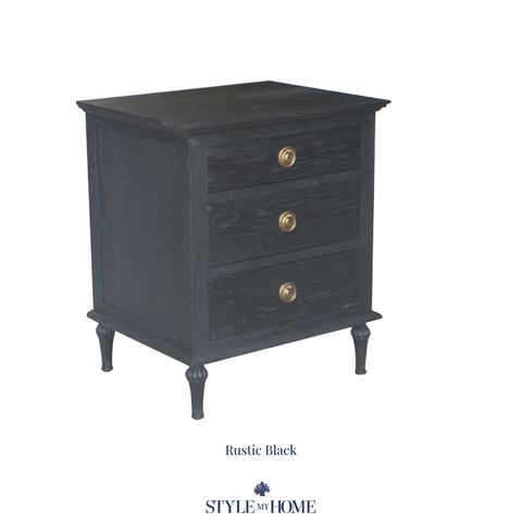 'HEIDI' 3 Drawer Bedside with Large handle