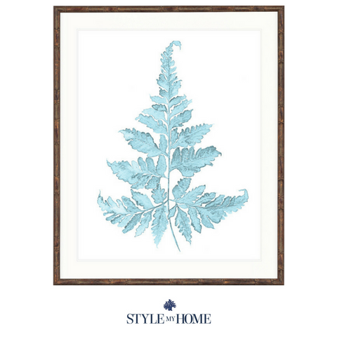 Pale Blue Foliage II Collection Designer Boys