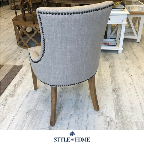 'Leo' Upholstered Linen Dining Chair
