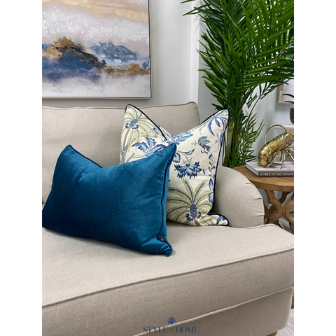 Plantation Bloom Luxury Linen Cushion