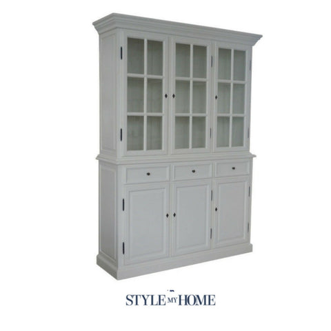 Hamptons French Glass Bookcase Display Cabinet Style My Home Sydney Australia Hamptons Country Coastal French
