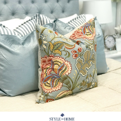 PORTSEA Duck Egg Luxury Cushion