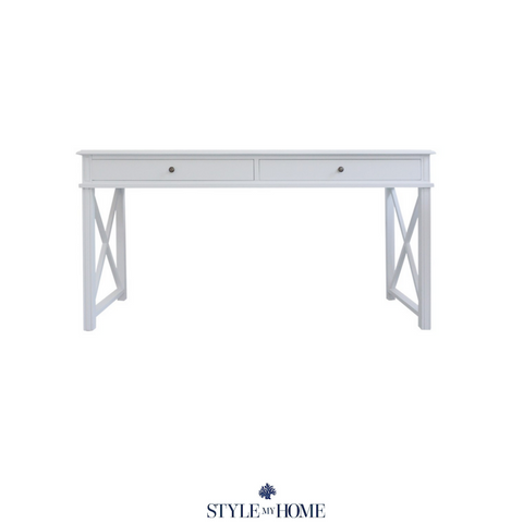 'SOUTH BEACH' (Petite Size) Cross Leg Office Desk
