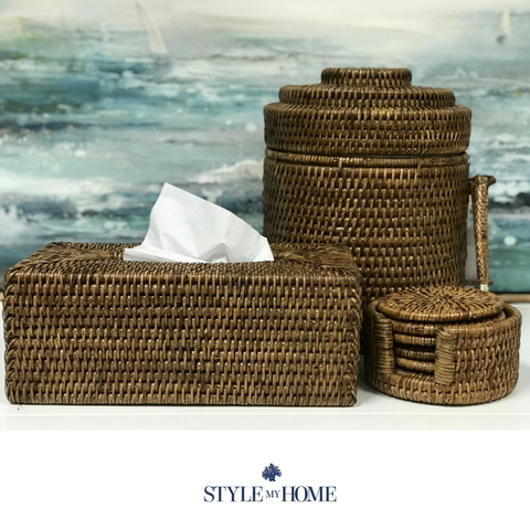 Rattan Rectangle Tissue Box