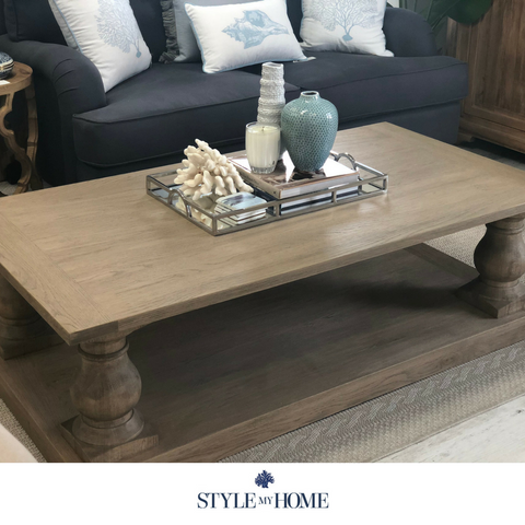 'SEBASTIAN' Weathered Oak Coffee Table
