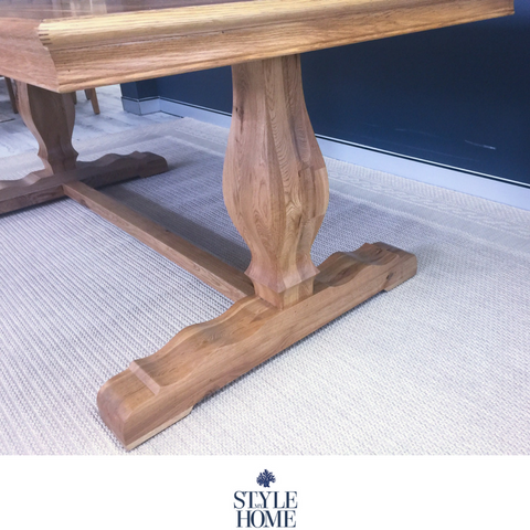 hamptons oak Dining Table by Style My Home Australia Hamptons French Country Coastal pedestal legs