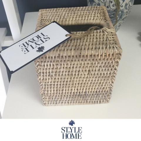 Rattan SQUARE Tissue Box