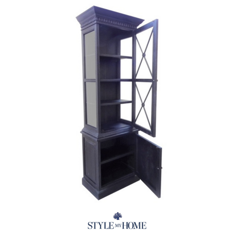 'Jessica' One Bay Glass Display Cabinet