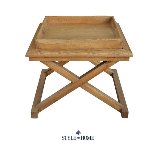 TRINITY Weathered Oak Occasional Table with removable tray Style My Home Sydney Australia Hamptons Coastal