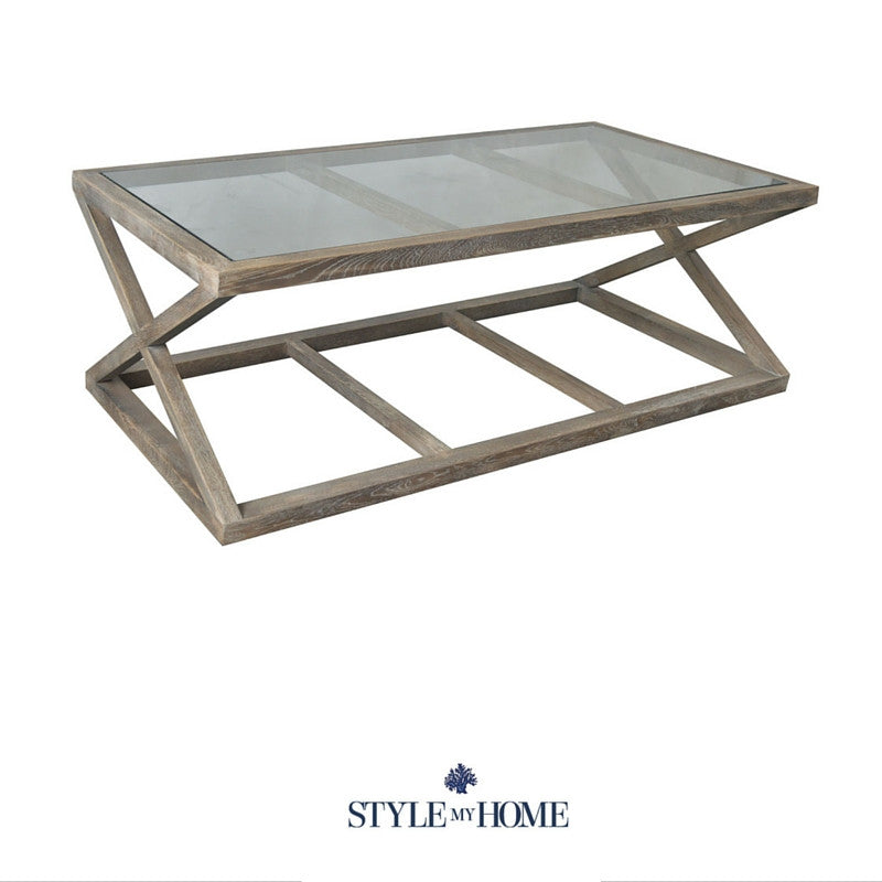 Excellent Joshua Coastal Cross Leg Coffee Table Style My Home Pabps2019 Chair Design Images Pabps2019Com