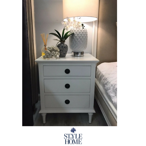 'HEIDI' 3 Drawer Bedside