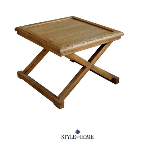 'TRINITY' Oak Occasional Table with Removable Tray