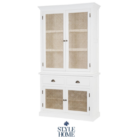 'WHITEHAVEN' Coastal Cabinet with Rattan