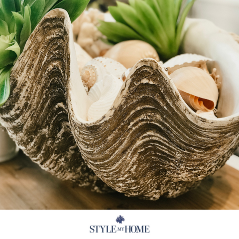 Polyresin Clam Shell Interior & Outdoor Decoration