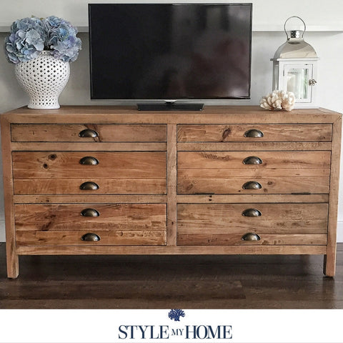 Rustic recycled entertainment unit