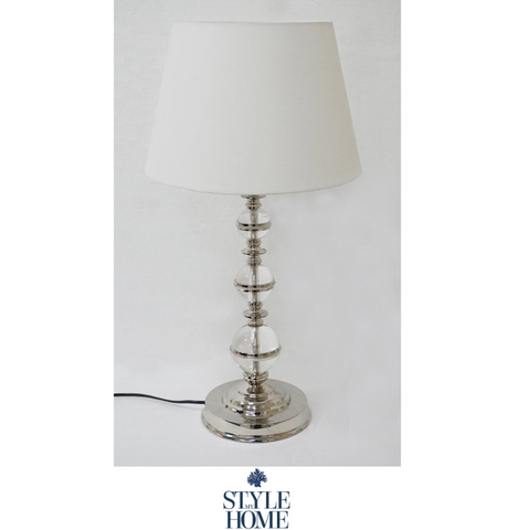 'FLORENCE' Nickel and Acrylic Table Lamp